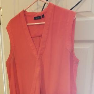 Orange sleeves blouse